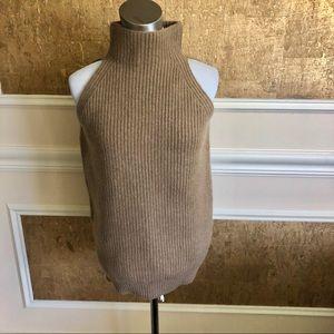 Stella McCartney tan turtleneck knitted top . S